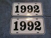 1992 Year License Plates Fits Buick Cadillac Chevrolet Pontiac Oldsmobile 2pc