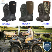 Hisea Menand039s Boots Waterproof Neoprene Insulated Muck Mud Hunting And Fishing Boots