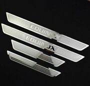 For Chevrolet Equinox 2015-2020 Car Steel Door Sill Scuff Plate Cover Trim 4x