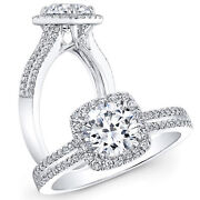 1.55 Ct Real Solitaire Diamond Engagement Women Ring 950 Platinum Size 6 7 8 9