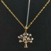 Pendant With Chain Gold 18k. Tree Of Life Without Pull