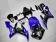 Blue Black Abs Injection Fairing Kit Fit For 2004-2006 Yzf R1 Full Tank Cover
