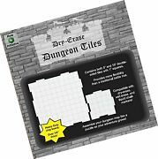 Dry Erase Dungeon Tiles, Combo Set Of Five 10 And Sixteen 5 Interlocking Sq...