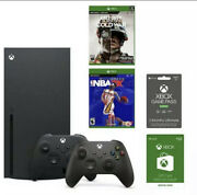 Brand New Xbox Series X Online Gaming System Bundle From Gamestop