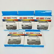 Lot Of 5 Ko-rec-type Black Ribbon Compatible 3022-0 For Brother Ax-series