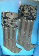 2 Woof And Poof Victorian Style Christmas Stockings