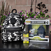 Loungefly Disney The Nightmare Before Christmas Zero Allover Print Mini Backpack