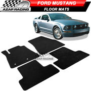Fits 05-09 Ford Mustang Coupe Oe Fitment Car Floor Mats Frontandrear Black Nylon