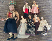 Vintage Hand Made Doll Lot Magis Italy Hungary Usa More Antique Rare Painted