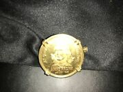 Commemorative Anne Frank Gold Coin Brooch