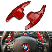 Red Carbon Steering Wheel Paddle Shifter Extension For Bmw 2 3 4 X1 X3 X4 X5 X6