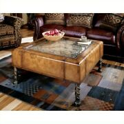 Butler Specialty Heritage Square Glass Top Clock Coffee Table