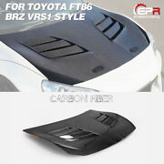 For Toyota Ft86 Fit Subaru Brz Vrs1 Style Carbon Fiber Vented Front Hood Kits