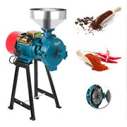 110v Wetanddry Electric Feed Flour Mill Cereals Grinder Grain Corn Grinding 2.2kw