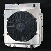 3 Row Aluminum Radiator With Fan Shroud For Ford Mustang Comet Falcon V8 63-66