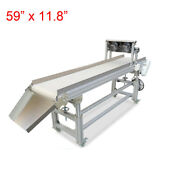 59and039and039x 11.8and039and039 Heat Resistant Belt Conveyor White Canvas Electric Transfer Machine