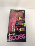 1986 Mattel Barbie And The Rockers Barbie Doll Dancing Action 3055 New N2