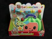 Cocomelon Musical Doctor Checkup Set Case 4 Play Pieces Syringe Stethoscope New