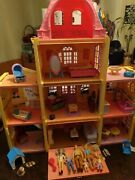 Fisher Price Loving Family Twin Time Dollhouse Lot Dolls Furniture Accessories