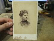 Old Antique Cabinet Photo Picture Buffalo New York Woman Lady Beaded Blouse Top