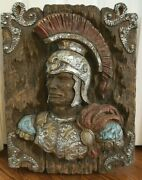1960 Universal Statuary Roman Soldier Statue Wall Hanging - Unique