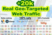 20k Geo Targeted 100 Safe Traffic From Us Uk Ca ..+150 Countries No Bots