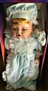 Perter Ashley Belle Bisque Porcelain Head, Hands And Feet Doll With Pillow 17