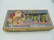 5 Katherineand039s Collection Victorian Christmas Ornaments Fox Bear Racoon Bunny