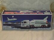 1999 Hess Toy Truck And Space Shuttle With Satellite New In Box