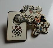 Disney Trading Pins Usa 2004 Mickey And Goofy Tennis Olympic Pin Le Wdw