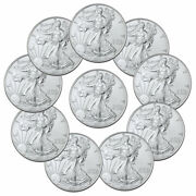 Lot Of 10 2021 American Silver Eagle T-1 Bu Brilliant Uncirculated Coins