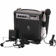 Pyle Pro Pwma220bm Portable Bluetooth Karaoke Pa Amp And Microphone System