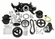 Holley 20-185bk Black Mid-mount Complete Accessory System For Gm Ls Engines