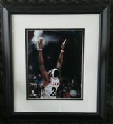 2007 Lebron James Chalk Toss Poof Framed Photo Authentic Nba Photo File Cavs