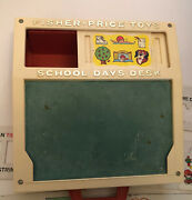 Vintage 1972 Fisher Price School Days Play Desk Letters Numbers Stencils