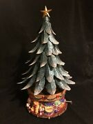 Partylite 15.5 Metal Glowing Tree Musical Votive Carousel Candle Holder 2003