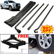 Spare Tire Tool Lug Wrench Extension+ 2 Ton Lifting Scissor Jack For Ford F-150
