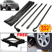2 Ton Scissor Jack Lug Wrench Extension Spare Tire Tool Steel Kit For Ford F150