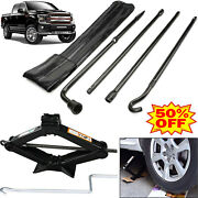Spare Tire Lug Wrench Extension 2 Ton Scissor Jack Tool Kit Set For Ford F-150