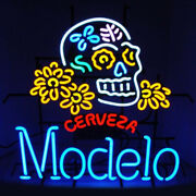 Neon Signs Gift Modelo Cerveza Beer Bar Pub Party Store Room Wall Display 24x20