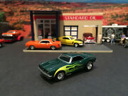 164 Hot Wheels Limited Edition 1968 68 Chevy Ss Camaro Green With Flames