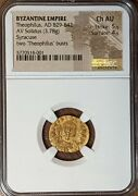 Theophilius Byzantine Empire 829-842 Ad Gold Solidus Coin Ngc Choice Au Free Shp
