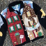 Vtg Mother Of All Ugly Christmas Sweaters Holy Grail Realtor Real Estate L Xl