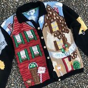 Vtg Mother Of All Ugly Christmas Sweaters Holy Grail Realtor Real Estate M