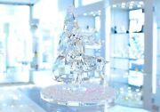 Crystal Pine Tree Stag Bell Jar Festive 5403173 Brand New In Box