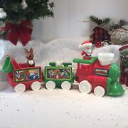 Fisher Price Little People Musical Christmas Train Santa Claus Reindeer Holiday