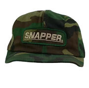 Vintage K-products Snapback Hat Cap Army Camo Snapback Snapper Mowers