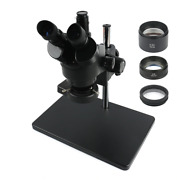 Trinocular Stereo Microscope 3.5x-90x Continuous Zoom + 0.5x/2x Auxiliary Object