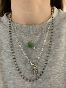 Genuine And Co Elsa Peretti Necklace With Jade Pendant