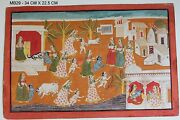 Painting Miniature Art Lord Krishna Mother Home Decor Vintage Collectible India